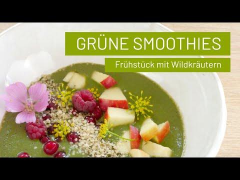 Grüner Smoothie als Bowl mit Wildkräutern | Brennnessel & Giersch