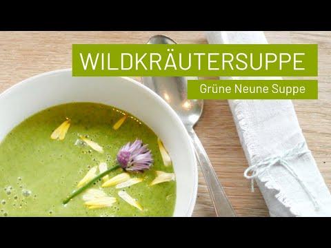 Wildkräuter-Suppe mit Kartoffeln | Knallgrünes Glück | vegan