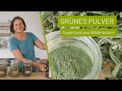 Grünes Pulver selber machen | Superfood aus Wildkräutern