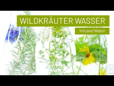 KräuterWasser | Aromatisiertes Wasser | Infused water mit Wildkräutern